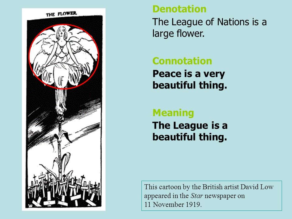 The League of Nations is a large flower.