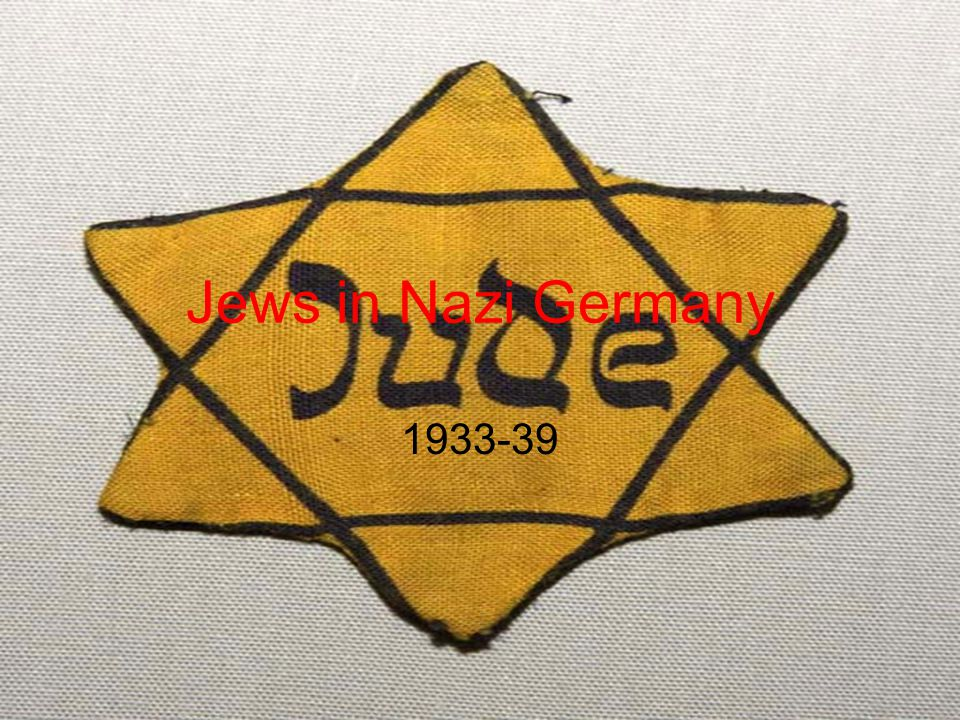 Jews in Nazi Germany 1933-39