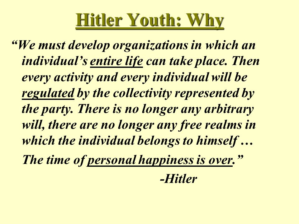 Hitler Youth: Why