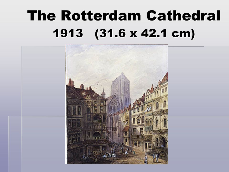 The Rotterdam Cathedral 1913 (31.6 x 42.1 cm)