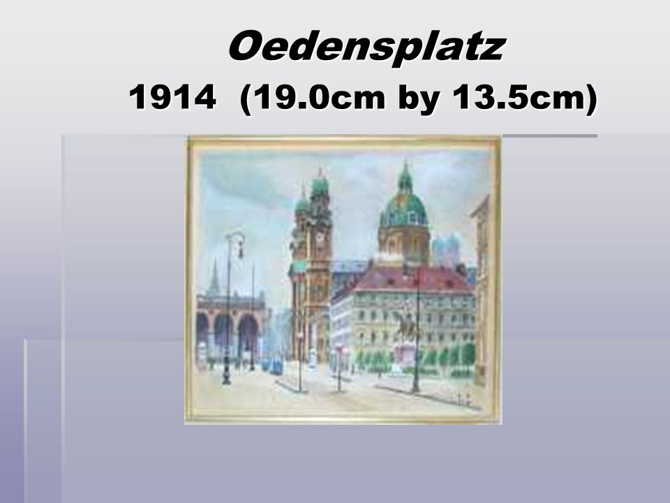 Oedensplatz 1914 (19.0cm by 13.5cm)