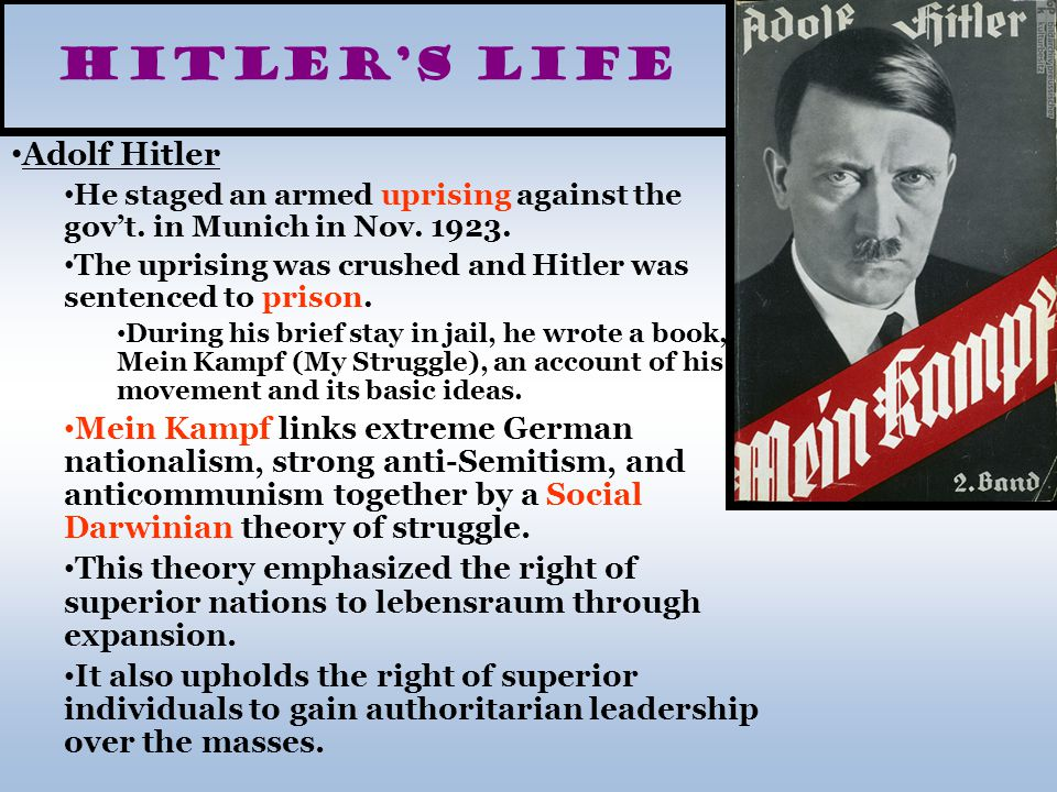 Hitler's Life Adolf Hitler