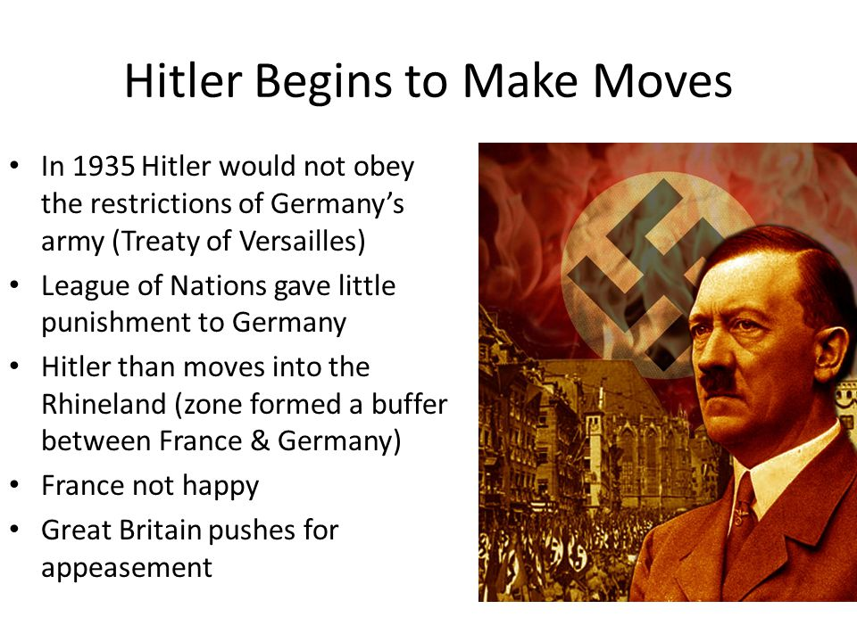 Hitler Begins to Make Moves