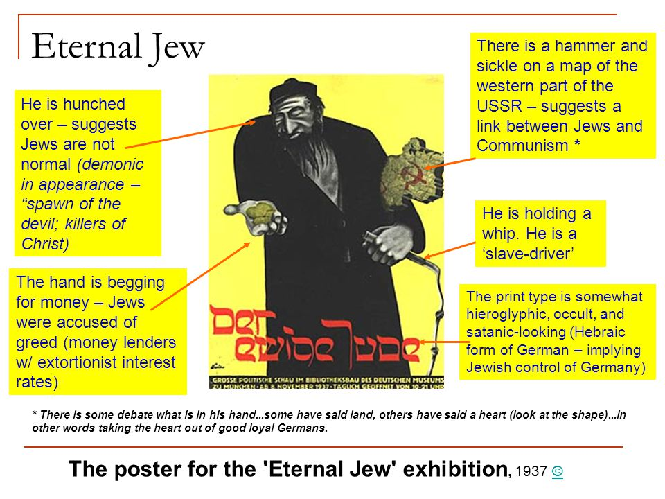 Eternal Jew The poster for the Eternal Jew exhibition, 1937 ©
