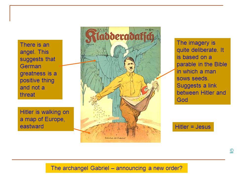 The archangel Gabriel – announcing a new order