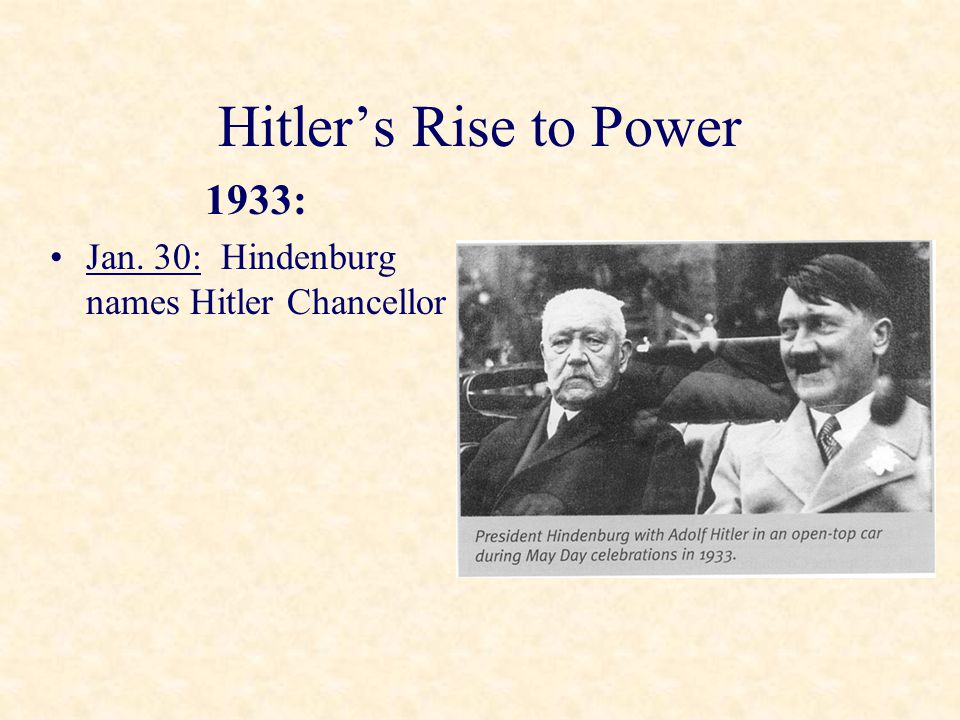 Hitler's Rise to Power 1933: