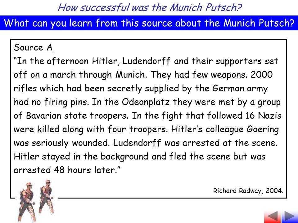 How successful was the Munich Putsch