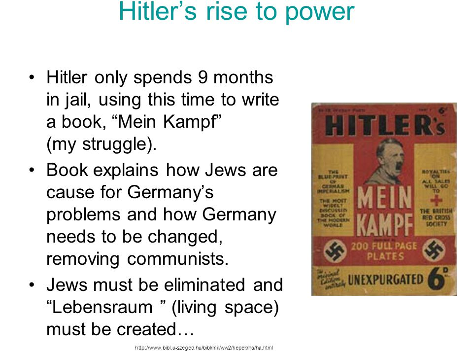 hitlers rise to power Thesis statement: hitler came to power in such a short period of time because of society's discontent after the world war i, his nationalist ideologies (add detail eg, which resonated with a weakened german state), and his extensive and effective use of propaganda to understand why hitler came.