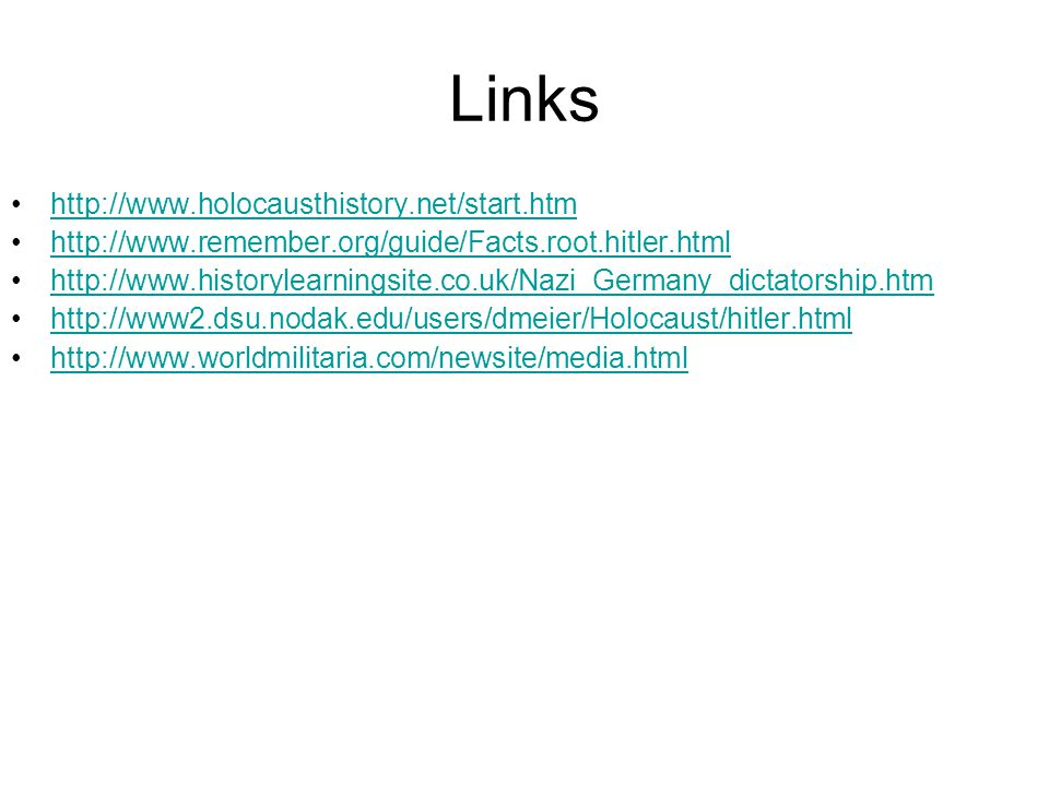 Links http://www.holocausthistory.net/start.htm