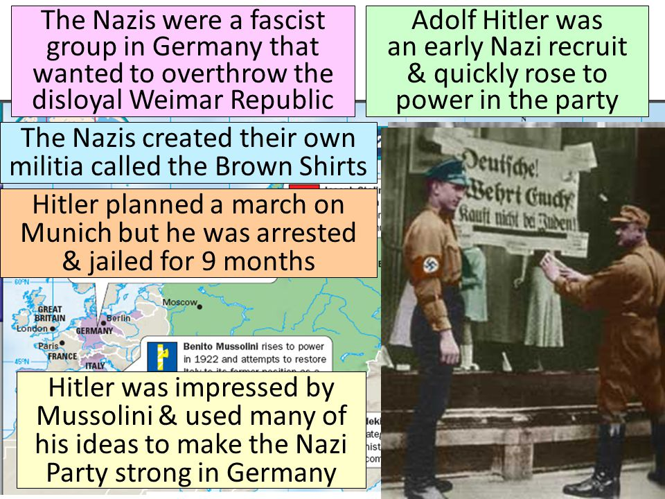 The Nazis created their own militia called the Brown Shirts