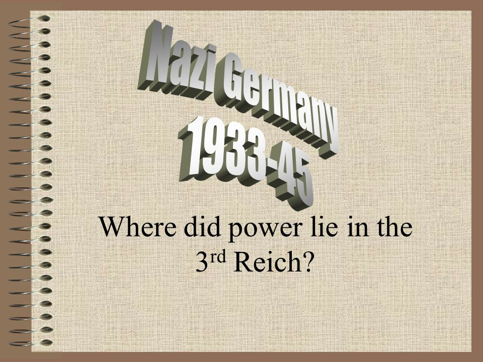 Where did power lie in the 3rd Reich