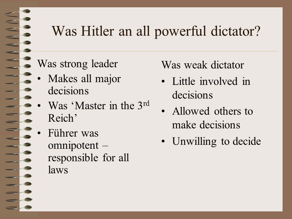 Was Hitler an all powerful dictator