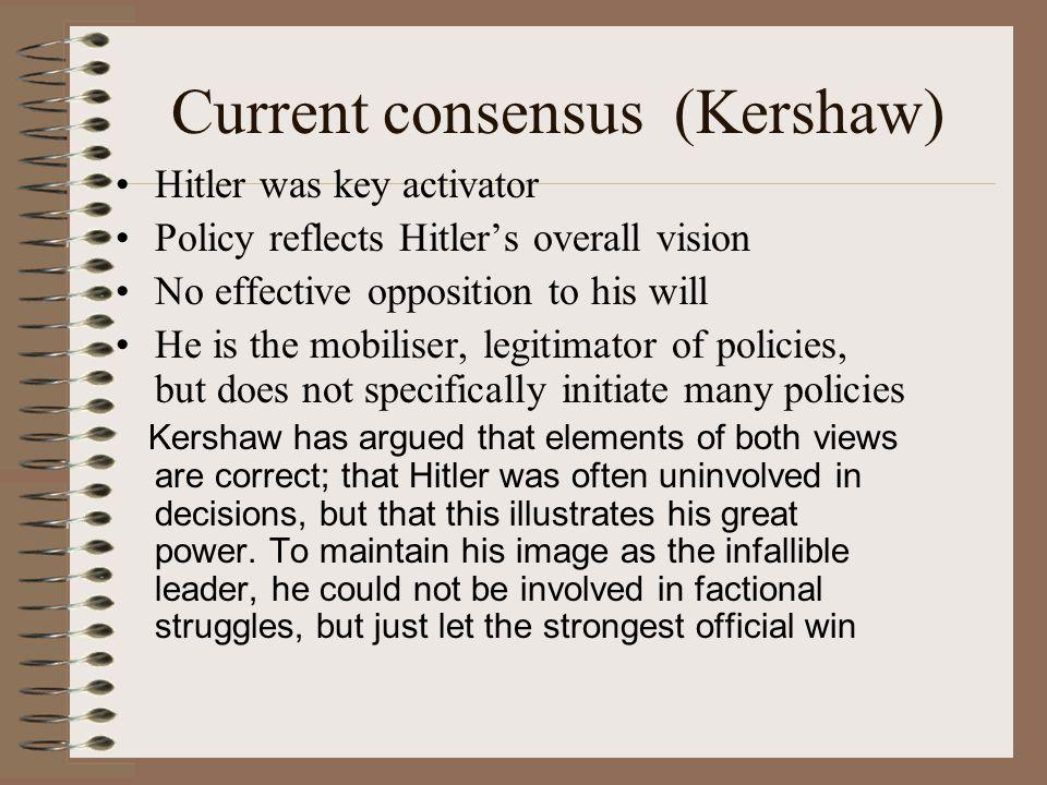 Current consensus (Kershaw)