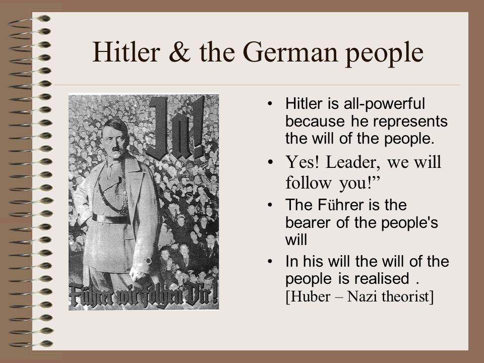 Hitler & the German people