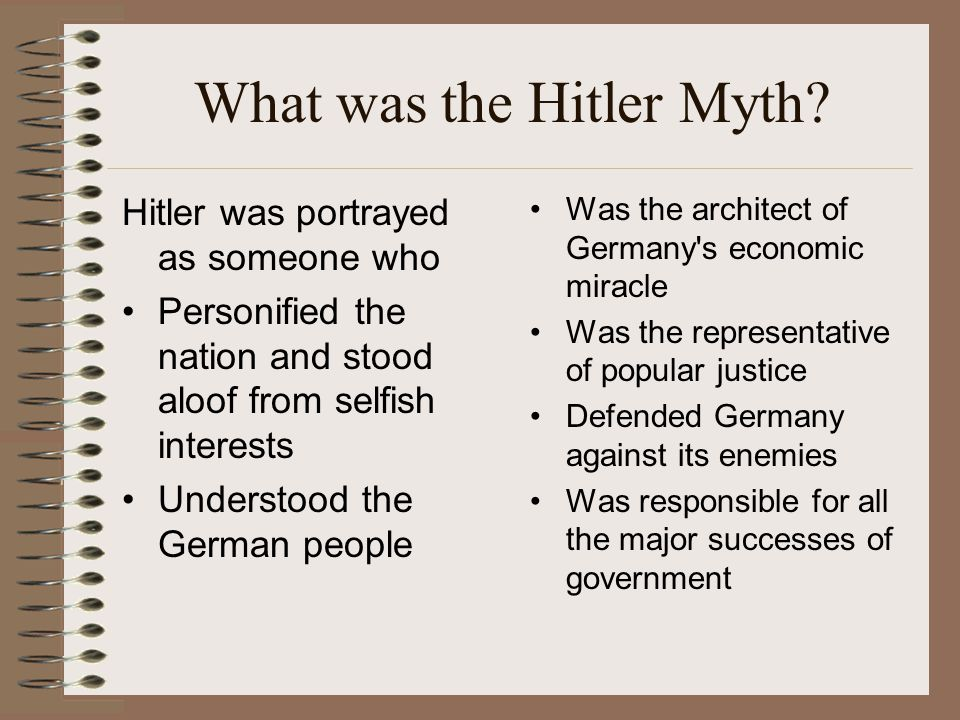 What was the Hitler Myth