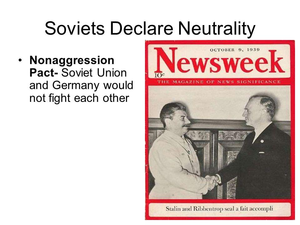 Soviets Declare Neutrality