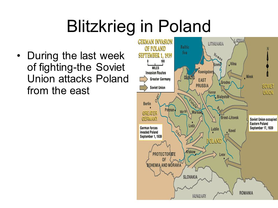Blitzkrieg in Poland During the last week of fighting-the Soviet Union attacks Poland from the east
