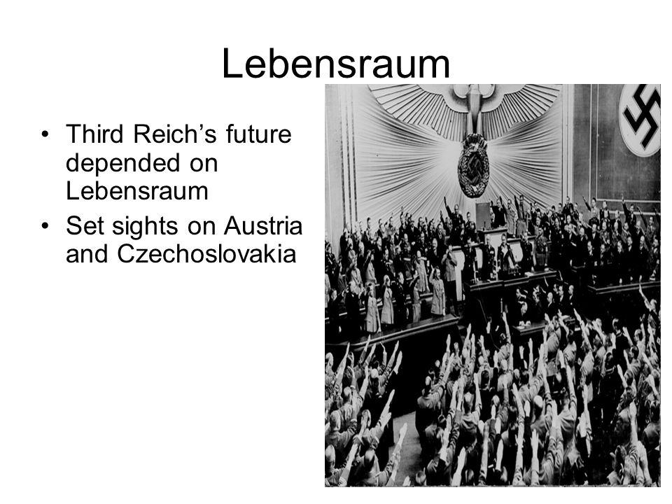 Lebensraum Third Reich's future depended on Lebensraum