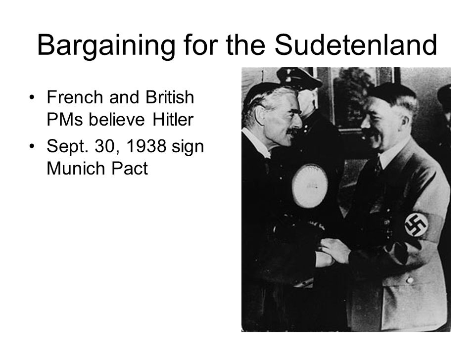 Bargaining for the Sudetenland