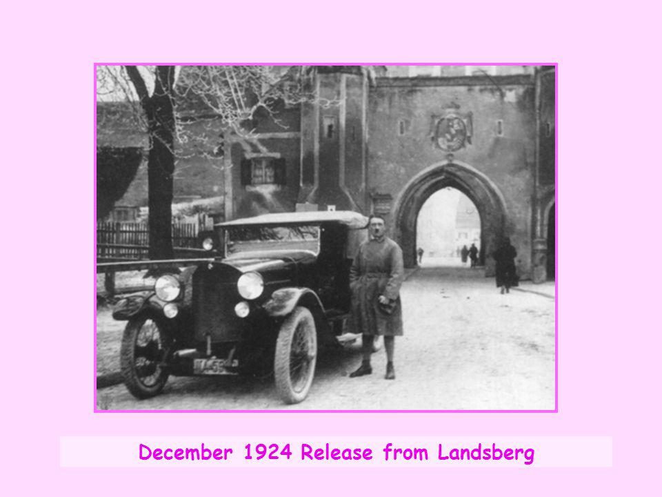 December 1924 Release from Landsberg
