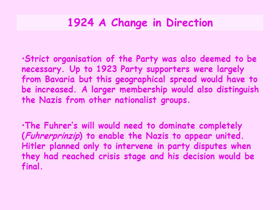 1924 A Change in Direction