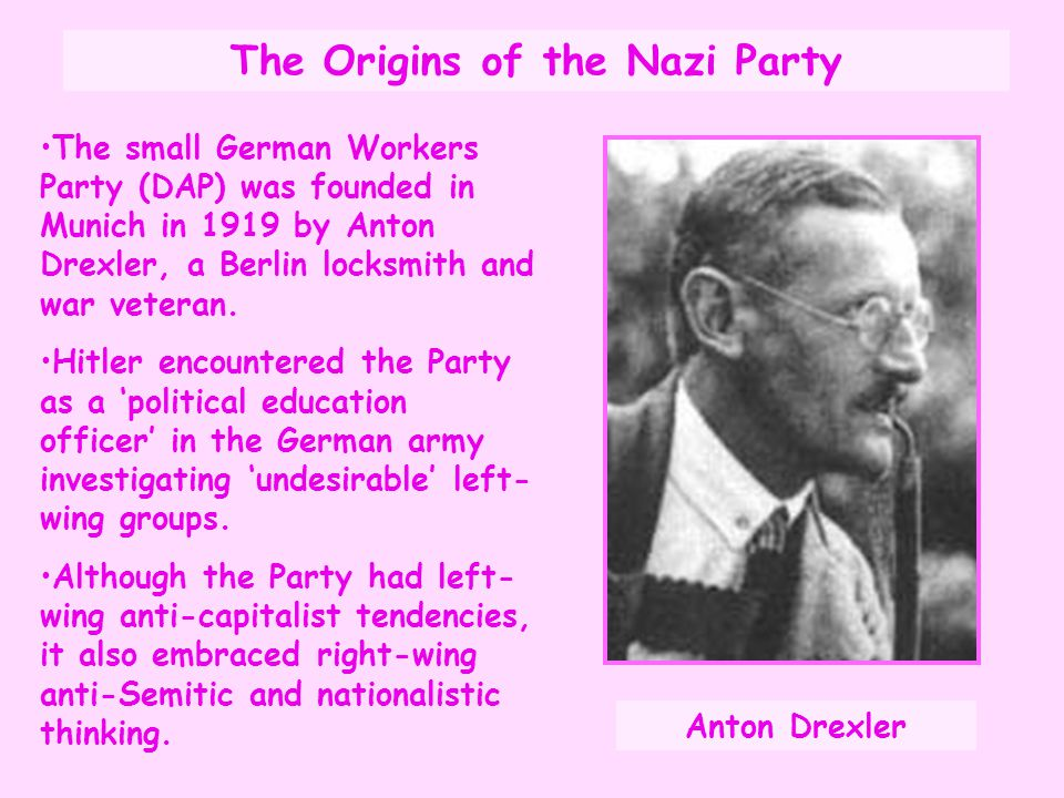 The Origins of the Nazi Party