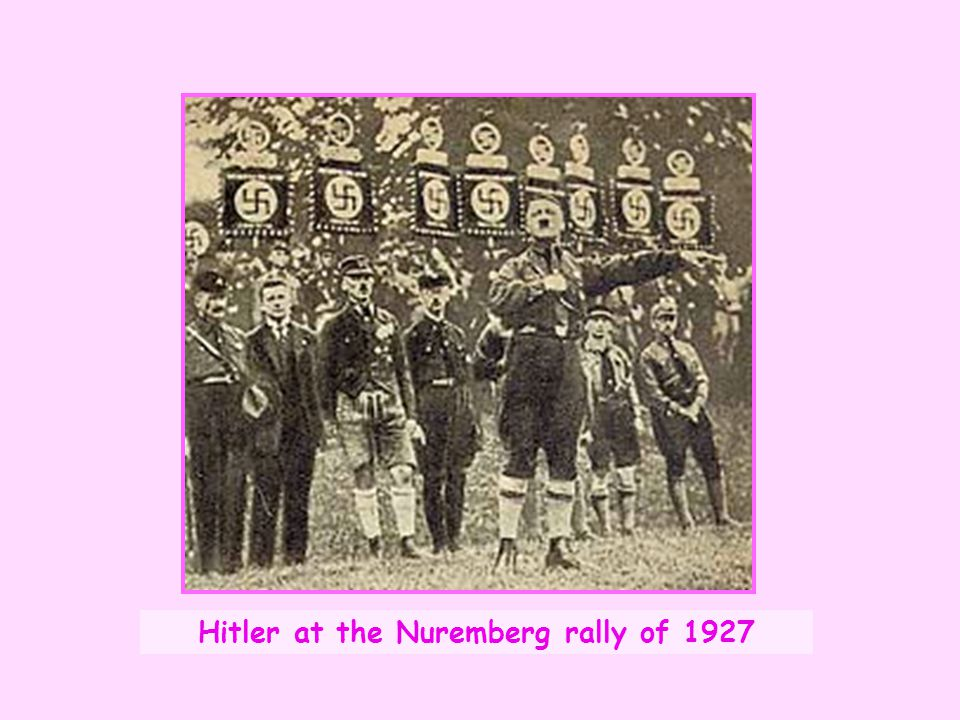 Hitler at the Nuremberg rally of 1927