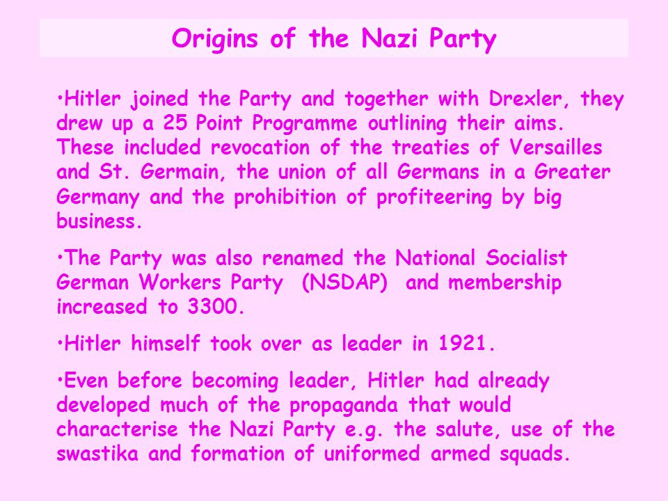 Origins of the Nazi Party