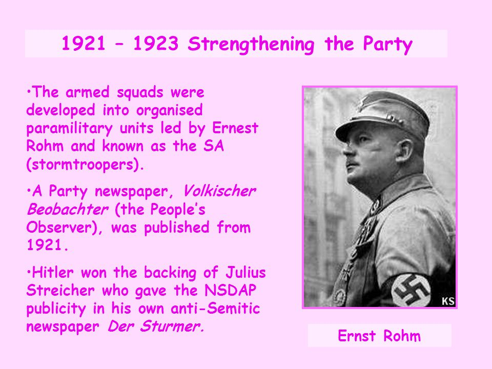 1921 – 1923 Strengthening the Party