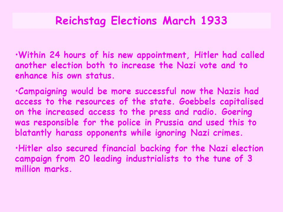 Reichstag Elections March 1933