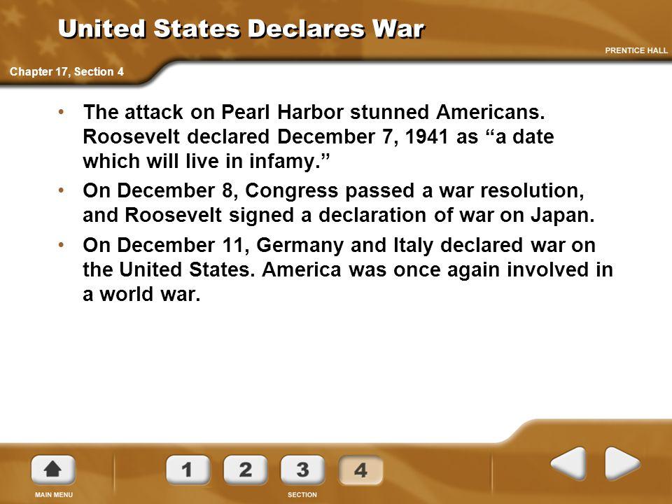 United States Declares War