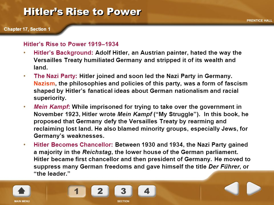 Hitler's Rise to Power Hitler's Rise to Power 1919–1934
