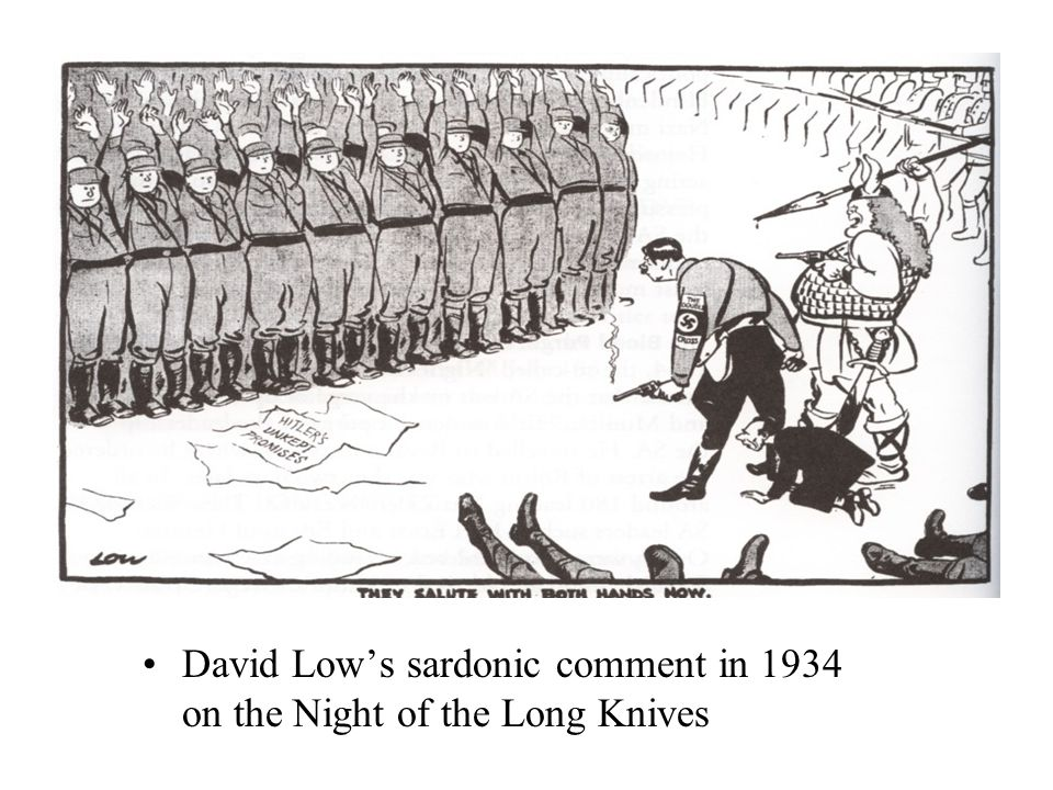 David Low's sardonic comment in 1934 on the Night of the Long Knives