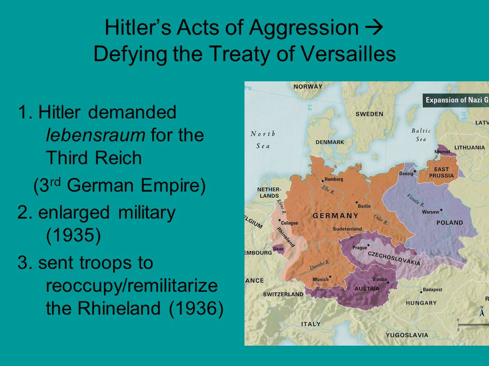 Hitler's Acts of Aggression  Defying the Treaty of Versailles