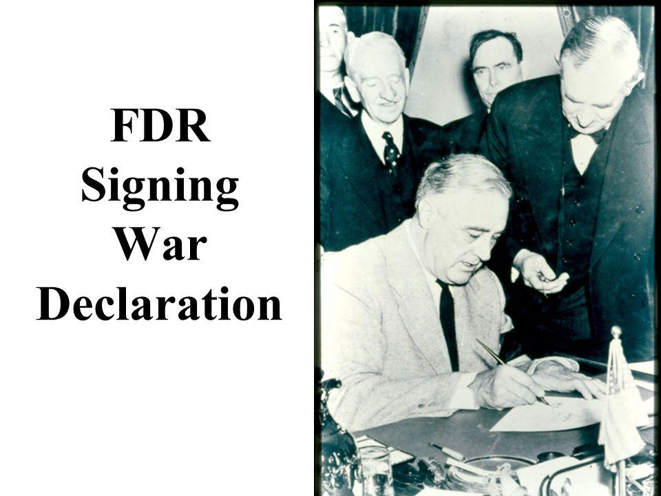 FDR Signing War Declaration
