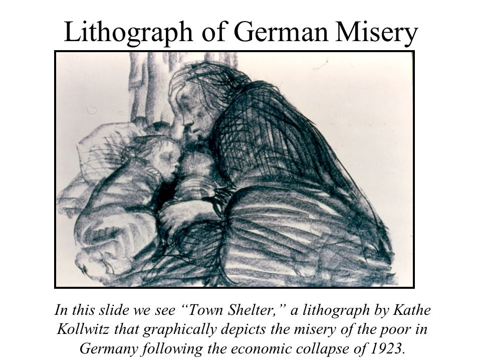 Lithograph of German Misery