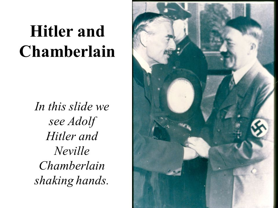 Hitler and Chamberlain