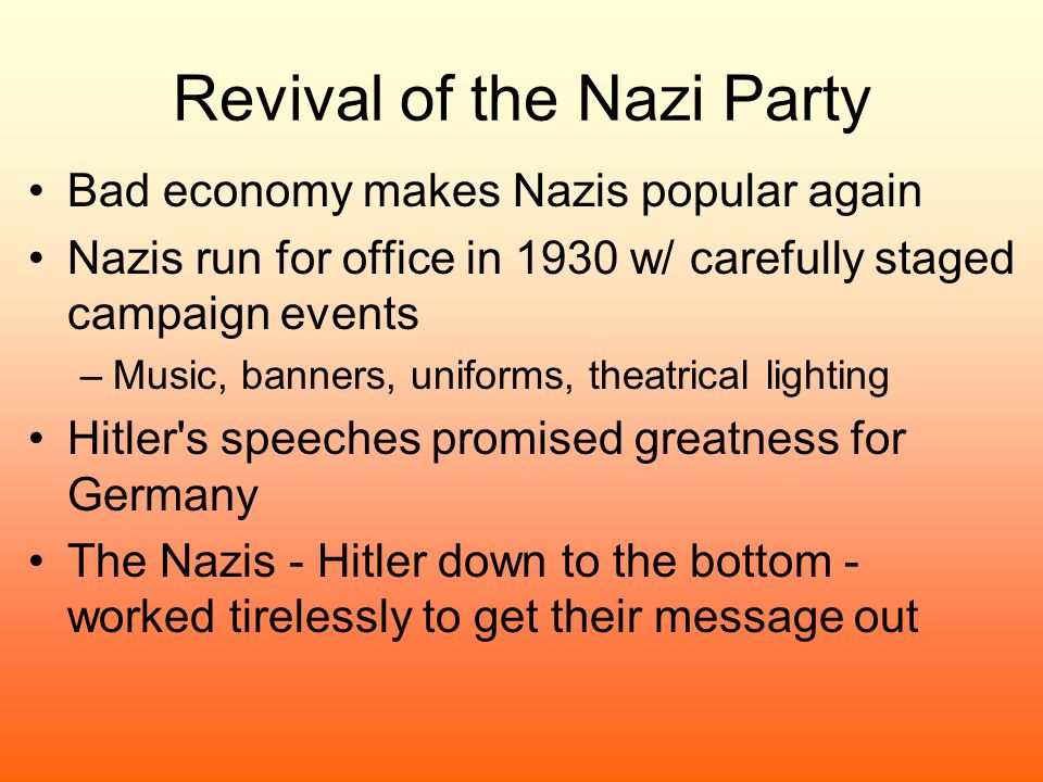 Revival of the Nazi Party