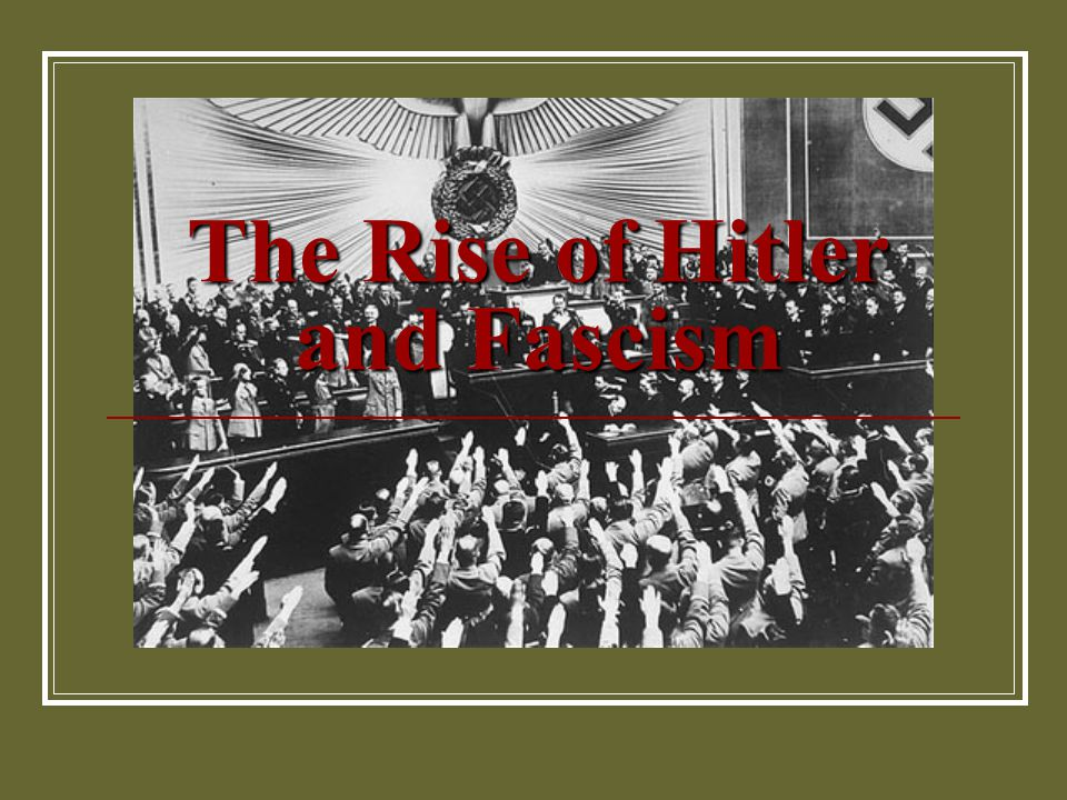 the rise of hitler Part 9 of a complete online history, the rise of adolf hitler - from unknown to dictator of germany, at the history place.