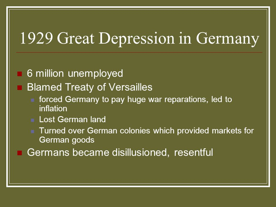 1929 Great Depression in Germany