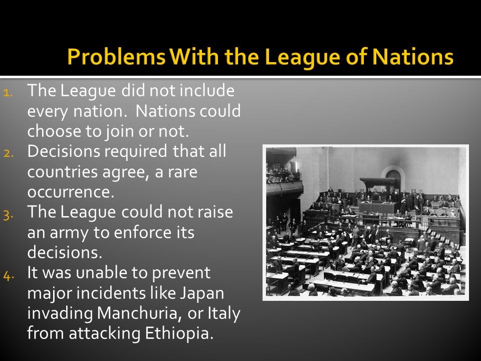Problems With the League of Nations