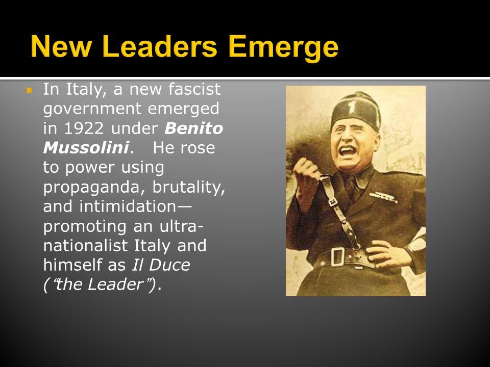 New Leaders Emerge