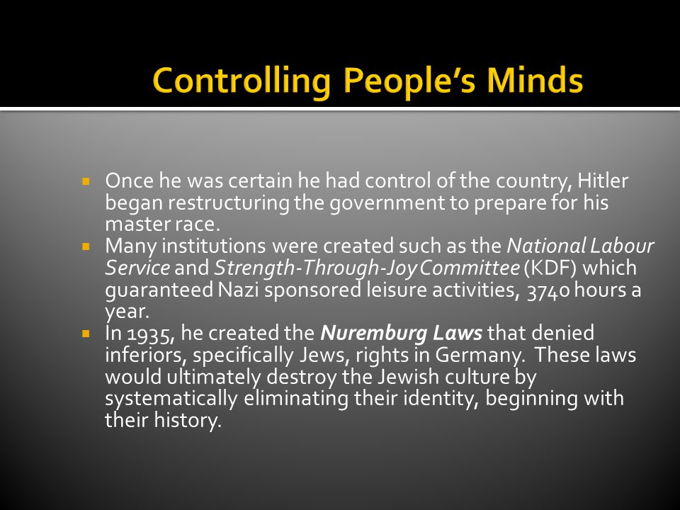 Controlling People's Minds