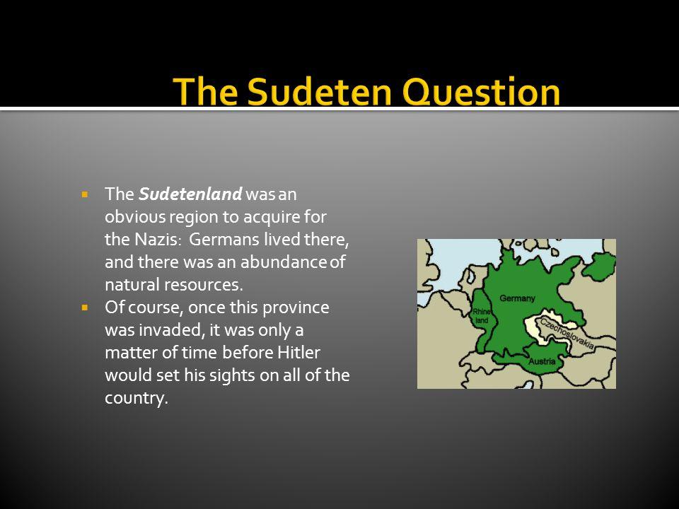 The Sudeten Question