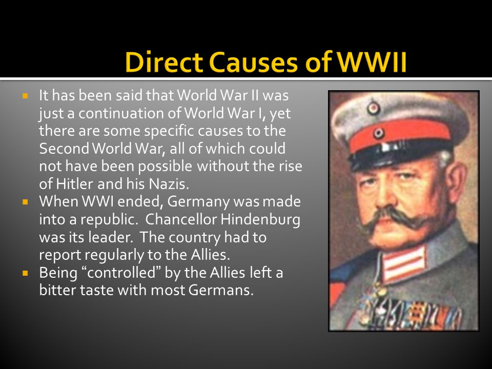 Direct Causes of WWII