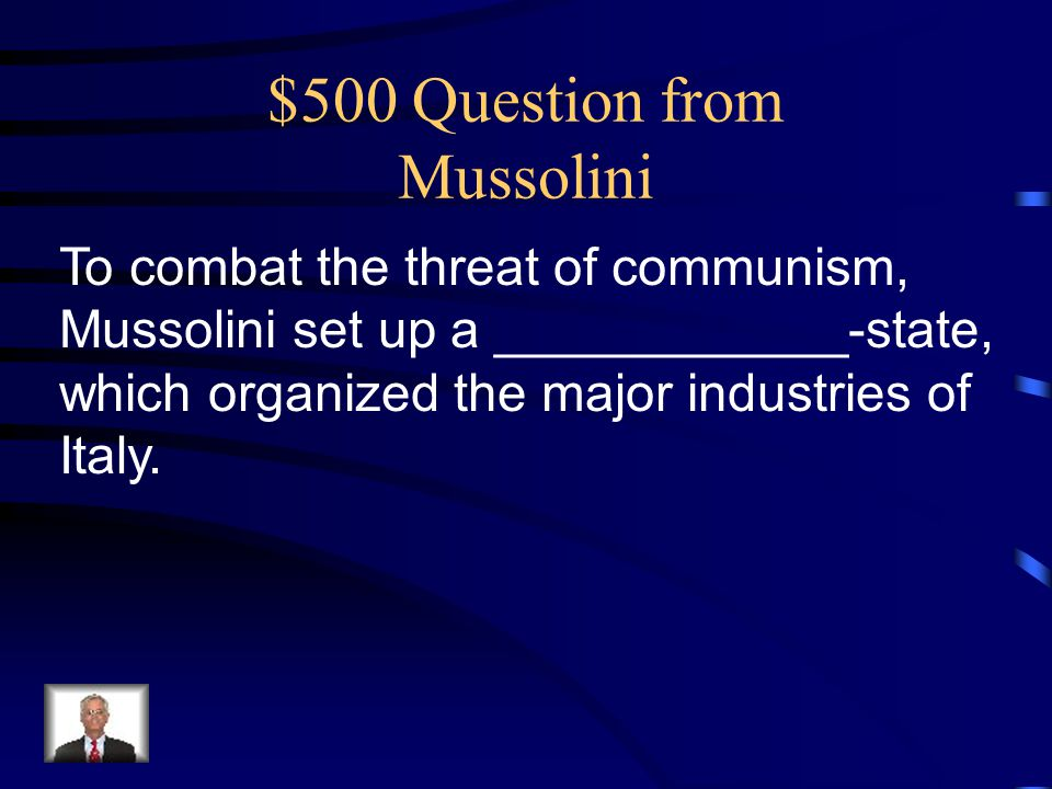 $500 Question from Mussolini