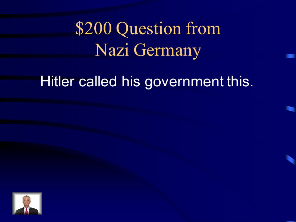 $200 Question from Nazi Germany
