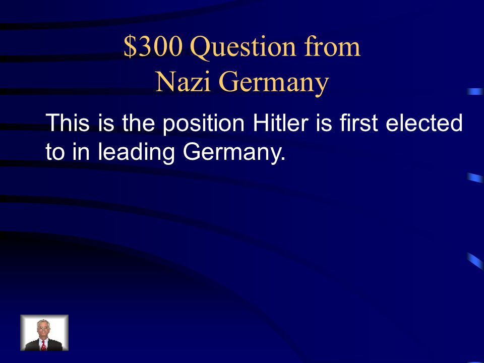$300 Question from Nazi Germany