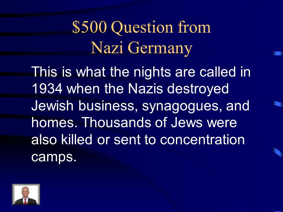 $500 Question from Nazi Germany