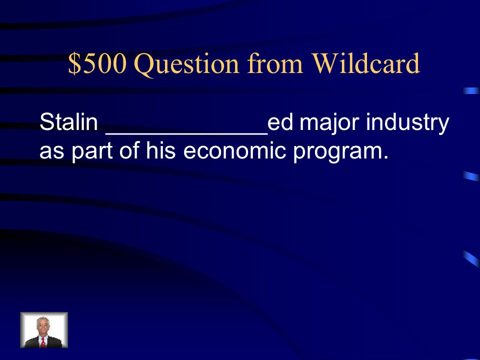 $500 Question from Wildcard